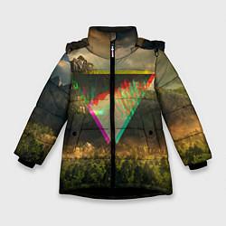 Детская зимняя куртка для девочки с принтом 30 seconds to mars, цвет: 3D-черный, артикул: 10063910306065 — фото 1