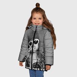 Куртка зимняя для девочки Кобейн в очках - фото 2