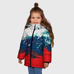 Куртка зимняя для девочки Триколор РФ - фото 2
