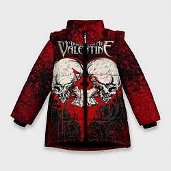 Куртка зимняя для девочки BFMV: Duo Skulls цвета 3D-черный — фото 1