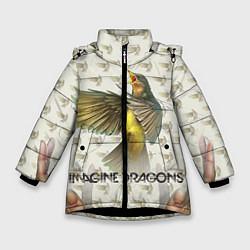 Куртка зимняя для девочки Imagine Dragons: Fly цвета 3D-черный — фото 1