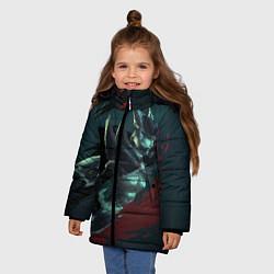 Куртка зимняя для девочки Phantom Assassin цвета 3D-черный — фото 2