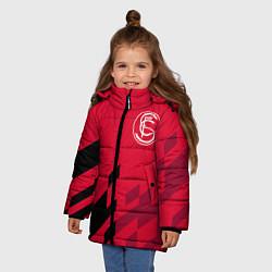 Куртка зимняя для девочки Sevilla FC цвета 3D-черный — фото 2