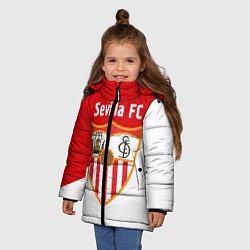 Детская зимняя куртка для девочки с принтом Sevilla FC, цвет: 3D-черный, артикул: 10065164906065 — фото 2