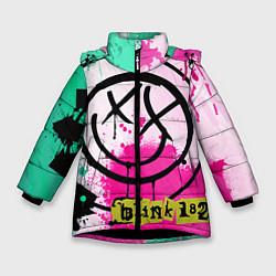Куртка зимняя для девочки Blink-182: Purple Smile цвета 3D-черный — фото 1