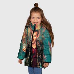 Куртка зимняя для девочки Доктор кто цвета 3D-черный — фото 2