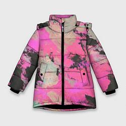 Куртка зимняя для девочки Краска - фото 1