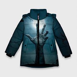 Куртка зимняя для девочки Рука цвета 3D-черный — фото 1