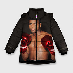Куртка зимняя для девочки Мухаммед Али цвета 3D-черный — фото 1