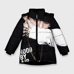 Куртка зимняя для девочки BTS: Hood by air цвета 3D-черный — фото 1