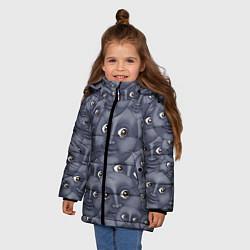 Куртка зимняя для девочки Эмодзи цвета 3D-черный — фото 2
