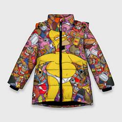 Куртка зимняя для девочки Рай Гомера цвета 3D-черный — фото 1