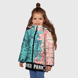 Куртка зимняя для девочки Linkin Park: Sky Girl цвета 3D-черный — фото 2
