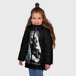 Куртка зимняя для девочки BMTH: Skull Pray цвета 3D-черный — фото 2