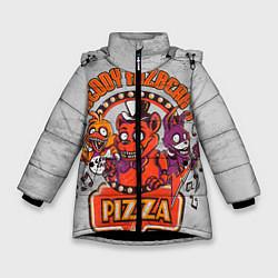 Детская зимняя куртка для девочки с принтом Freddy Pizza, цвет: 3D-черный, артикул: 10073826506065 — фото 1