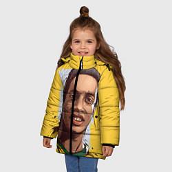 Куртка зимняя для девочки Ronaldinho Art цвета 3D-черный — фото 2