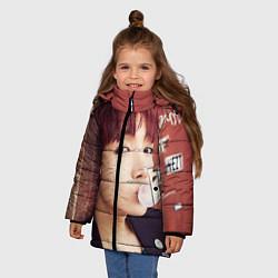 Детская зимняя куртка для девочки с принтом J-Hope, цвет: 3D-черный, артикул: 10076886506065 — фото 2