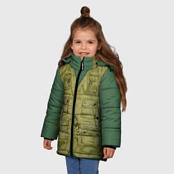 Куртка зимняя для девочки Жилетка рыбака цвета 3D-черный — фото 2