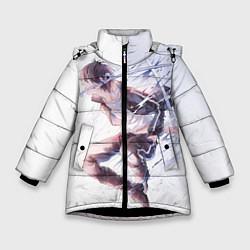 Куртка зимняя для девочки Бездомный бог цвета 3D-черный — фото 1