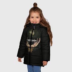 Детская зимняя куртка для девочки с принтом Imagine Dragons: Smoke + Mirrors, цвет: 3D-черный, артикул: 10078925306065 — фото 2