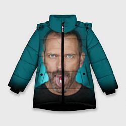Куртка зимняя для девочки Хаус с таблеткой цвета 3D-черный — фото 1