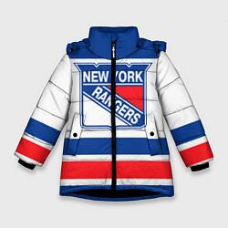 Куртка зимняя для девочки New York Rangers цвета 3D-черный — фото 1