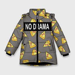 Куртка зимняя для девочки No drama цвета 3D-черный — фото 1