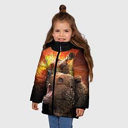 Куртка зимняя для девочки Защитник цвета 3D-черный — фото 2