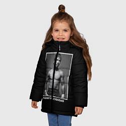 Куртка зимняя для девочки Manny Pacquiao: Photo цвета 3D-черный — фото 2