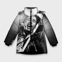 Куртка зимняя для девочки Боб Марли поет цвета 3D-черный — фото 1