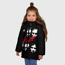 Куртка зимняя для девочки Группа АлисА цвета 3D-черный — фото 2