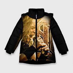 Куртка зимняя для девочки Кипелов: Ария цвета 3D-черный — фото 1