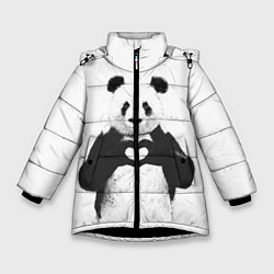 Куртка зимняя для девочки Panda Love цвета 3D-черный — фото 1