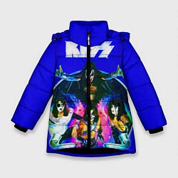 Куртка зимняя для девочки Kiss Show цвета 3D-черный — фото 1