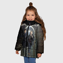 Куртка зимняя для девочки Sherlock Break цвета 3D-черный — фото 2