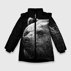 Куртка зимняя для девочки Черно-белый медведь цвета 3D-черный — фото 1