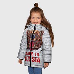 Куртка зимняя для девочки Bear: Made in Russia цвета 3D-черный — фото 2