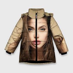 Куртка зимняя для девочки Анжелина Джоли цвета 3D-черный — фото 1