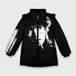 Куртка зимняя для девочки Цой с сигаретой цвета 3D-черный — фото 1