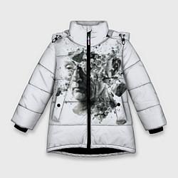 Куртка зимняя для девочки Saw Abstract цвета 3D-черный — фото 1