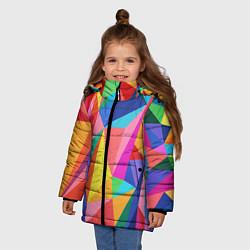 Куртка зимняя для девочки Радуга цвета 3D-черный — фото 2