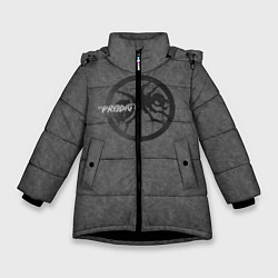Куртка зимняя для девочки The Prodigy: Dark Asphalt цвета 3D-черный — фото 1