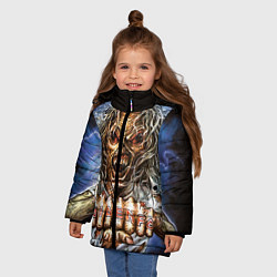 Детская зимняя куртка для девочки с принтом Iron Maiden: Maidenfc, цвет: 3D-черный, артикул: 10089881006065 — фото 2