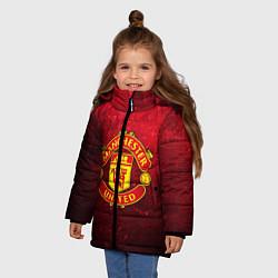 Куртка зимняя для девочки Манчестер Юнайтед - фото 2