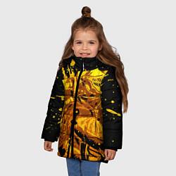 Куртка зимняя для девочки Dark Souls: Gold Knight цвета 3D-черный — фото 2