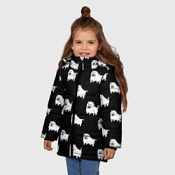 Куртка зимняя для девочки Undertale Annoying dog цвета 3D-черный — фото 2