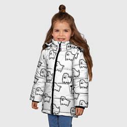 Куртка зимняя для девочки Undertale Annoying dog white цвета 3D-черный — фото 2