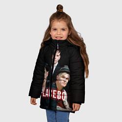 Куртка зимняя для девочки Placebo Guys цвета 3D-черный — фото 2
