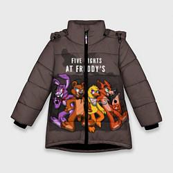 Детская зимняя куртка для девочки с принтом Five Nights At Freddy's, цвет: 3D-черный, артикул: 10093561406065 — фото 1