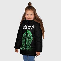 Куртка зимняя для девочки Chemical Brothers: Acid lines цвета 3D-черный — фото 2